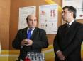 Presidente da Câmara Municipal (à esquerda), acompanhado do representente da Administração Regional de Saúde do Norte