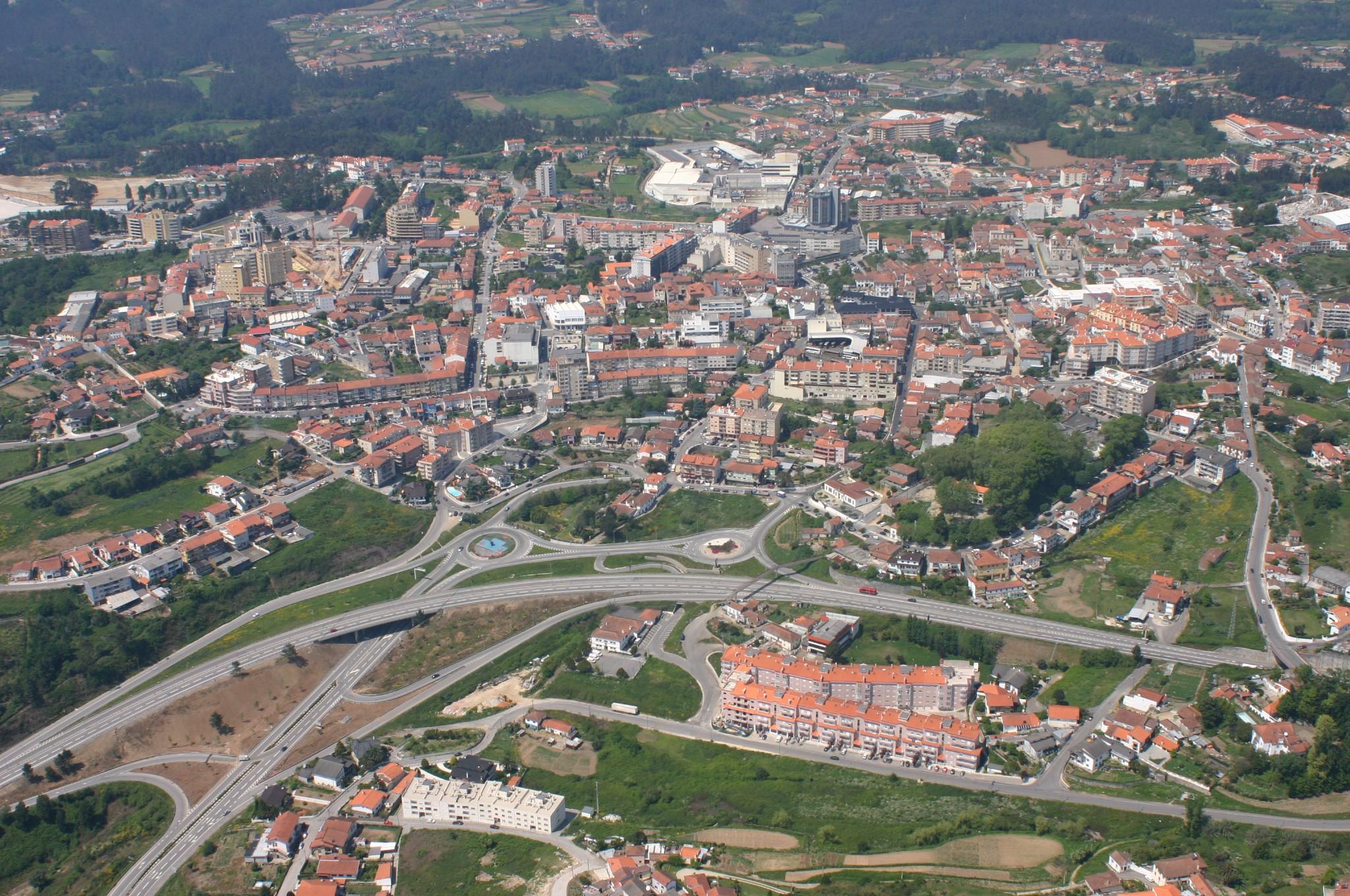 Vista aérea da cidade de Oliveira de Azeméis