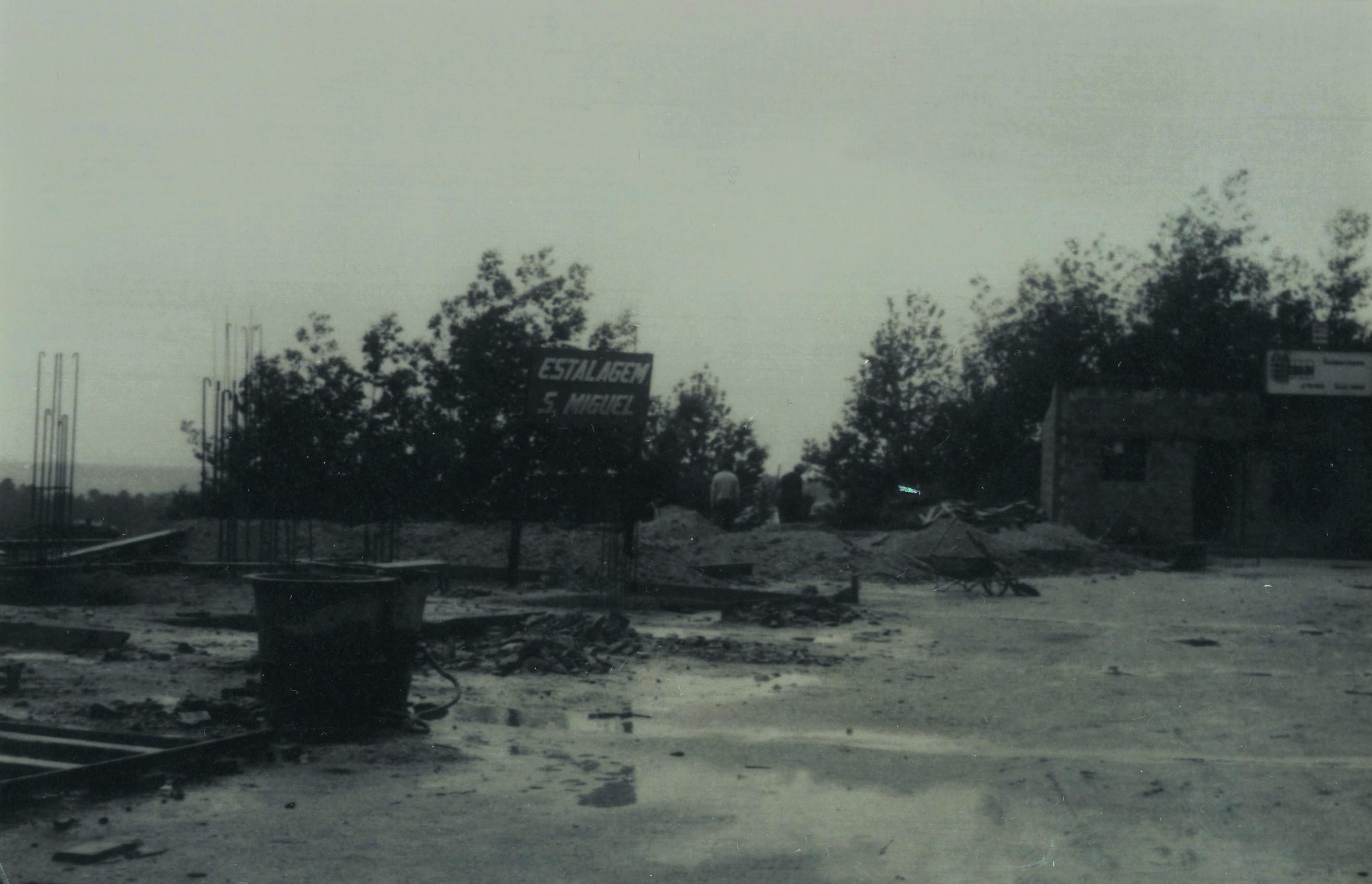 Início da construção da estalagem S. Miguel (1972)