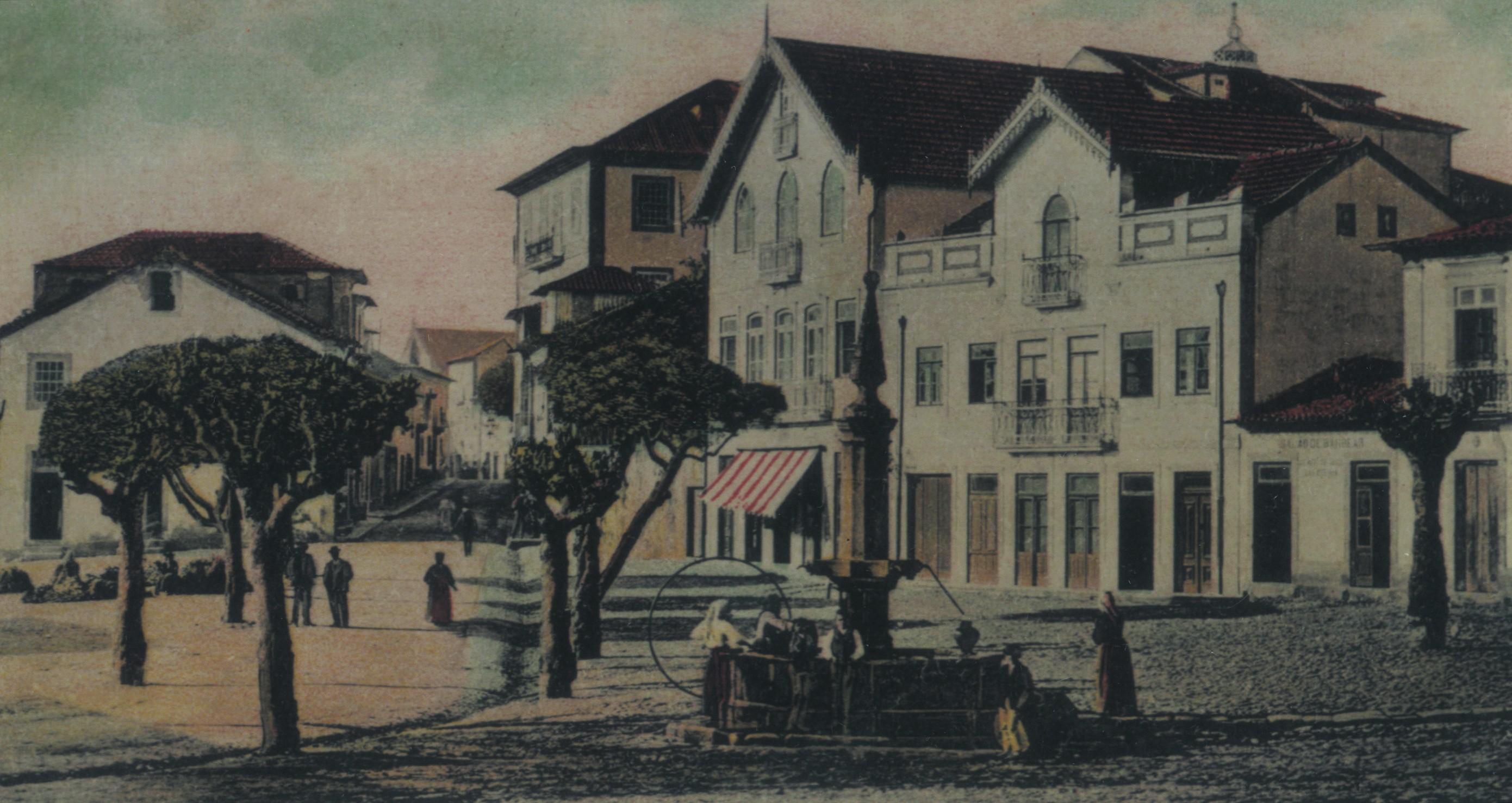 Antigas Praça e rua da Cadeia (1908)