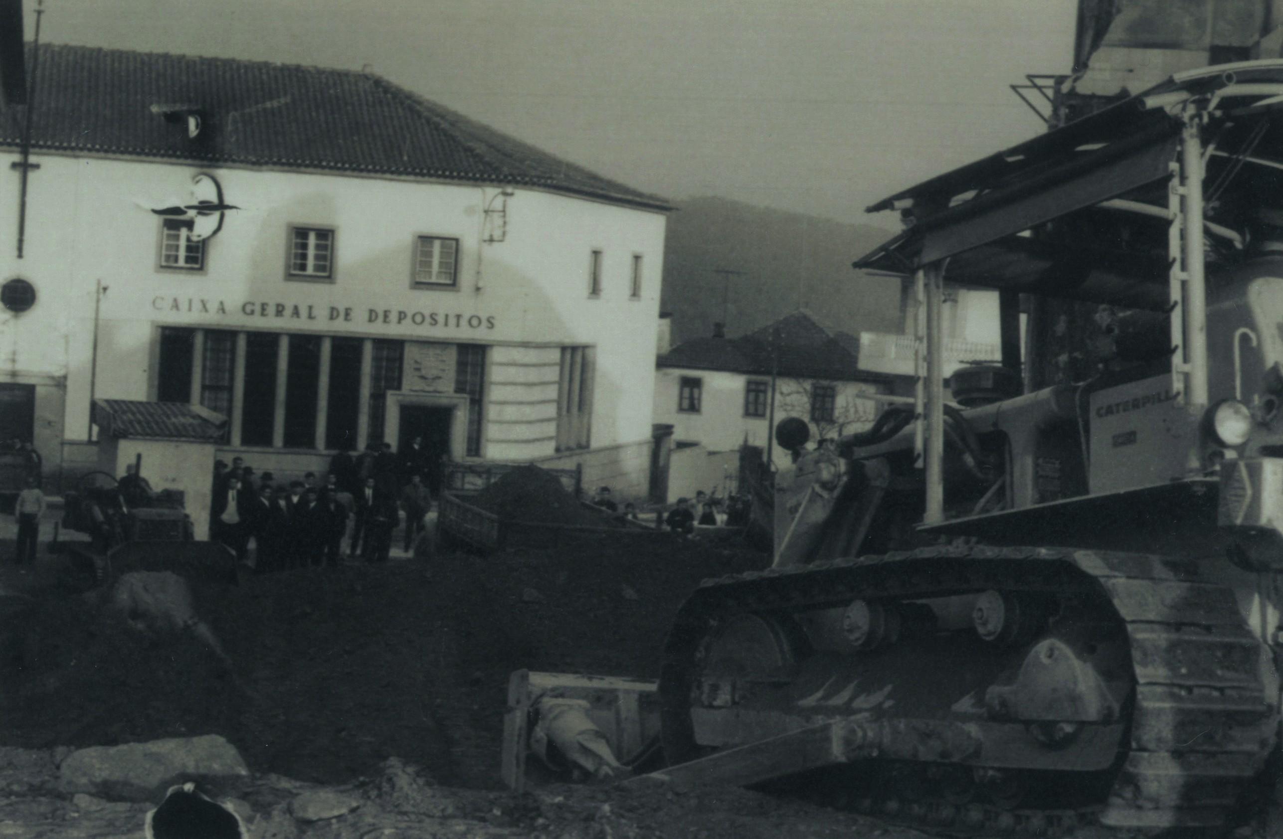 Construção da praceta Dª Maria II (1970)