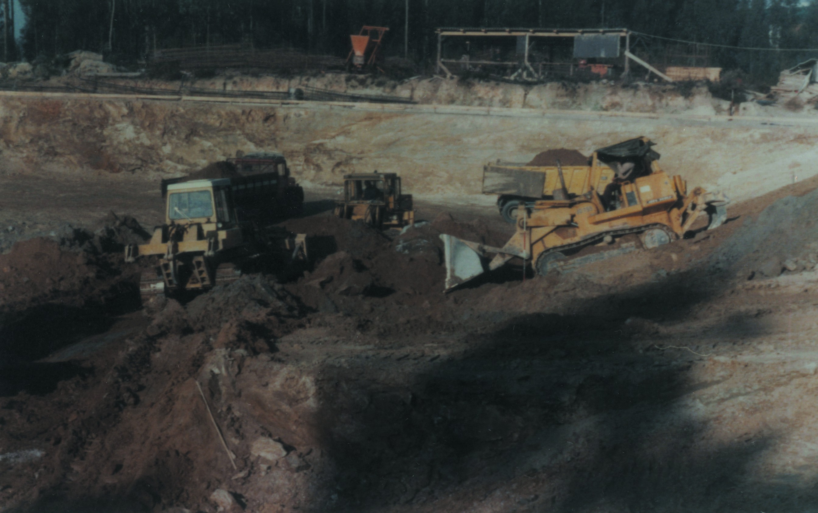 Terraplanagem do pavilhão da União Desportiva Oliveirense (1978)