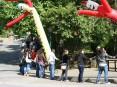 Cordão humano à volta do parque de La-Salette