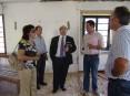 Hermínio Loureiro, presidente da Câmara de Oliveira de Azeméis, visitando as obras na sede da banda musical S. Martinho de Fajões