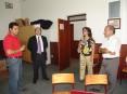 Hermínio Loureiro na visita à banda de música de Carregosa