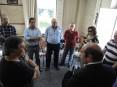 Hermínio Loureiro na visita à banda de música de S. Tiago de Riba-Ul