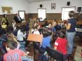 Aula da escola de música da Sociedade Musical Harmonia Pinheirense