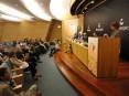 Ministra da Educação, Isabel Alçada, intervindo na sessão solene