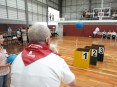Idoso participando nas VII Olimpíadas Séniores