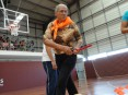 Idosa participando nas VII Olimpíadas Séniores