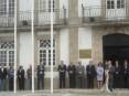 Cerimónia do hastear da bandeira nos Paços do Concelho