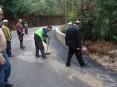Obras incluiram o alargamento da via, construção de muro de protecção e pavimentação