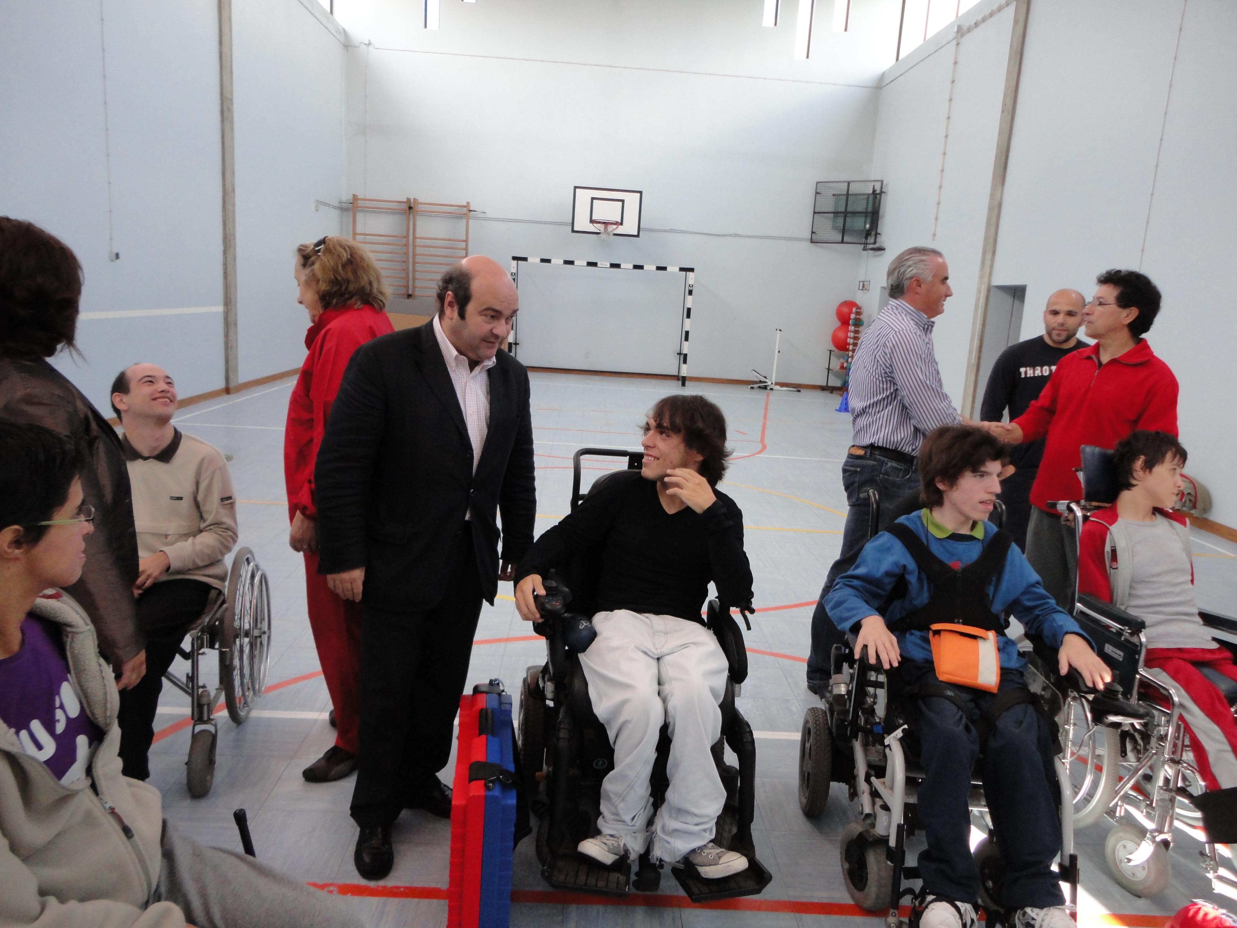 Inauguração do centro municipal de treino de boccia foi inaugurado pelo presidente da autarquia, Hermínio Loureiro