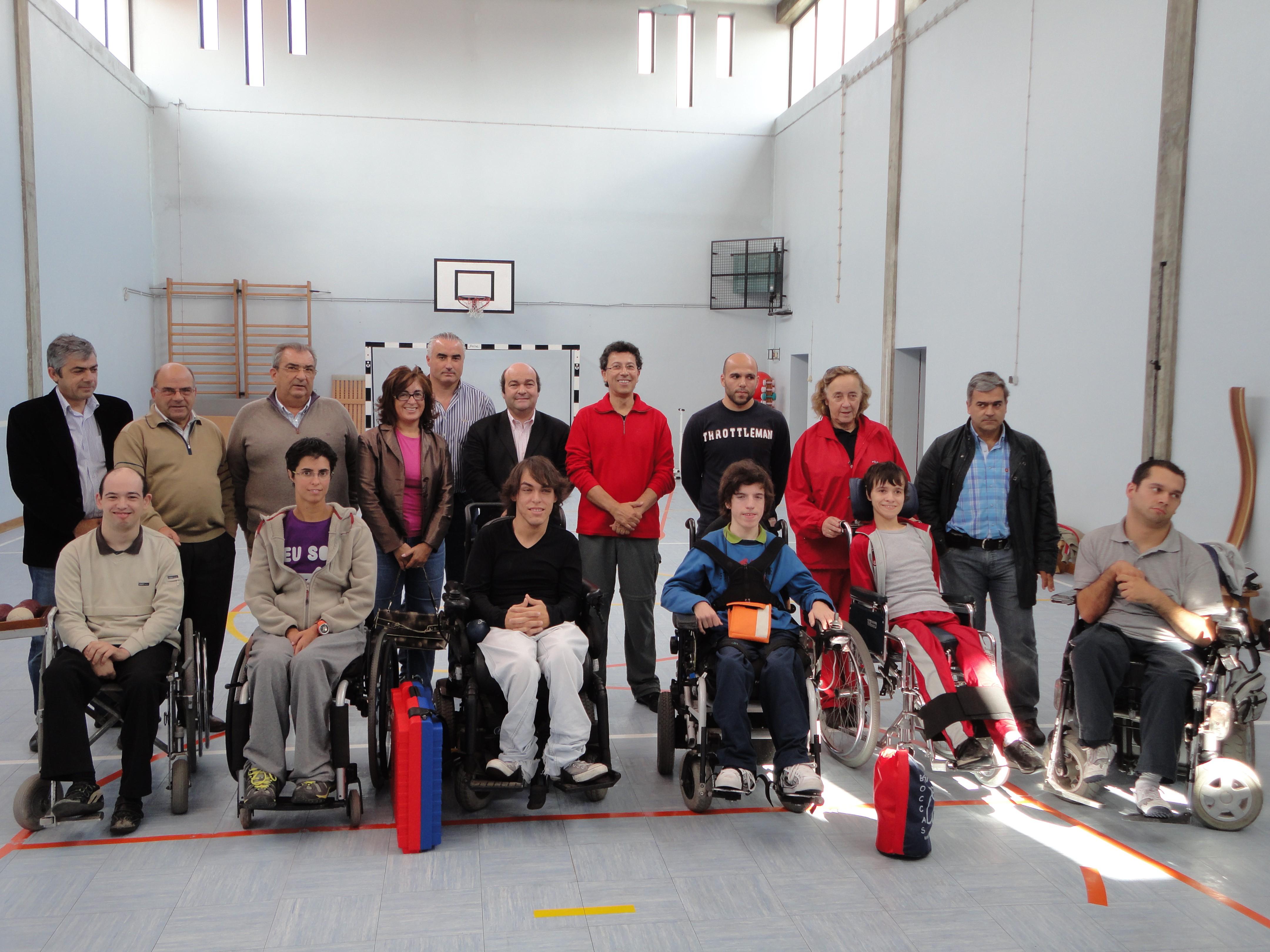 Inauguração contou com atletas que participaram no último estágio da selecção nacional de boccia, realizado em Oliveira de Azeméis