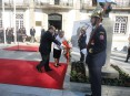 Comemorações incluíram, entre outras acções promovidas pela autarquia, EB 2,3 Bento Carqueja e escola secundária Soares Basto, a deposição de uma coroa de flores