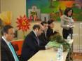 Directora do Agrupamento de Escolas de Loureiro na recepção ao presidente da autarquia e ao vereador da Educação
