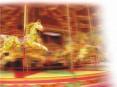 O carrossel infantil é uma das atracções de Natal destinadas ao público mais novo