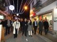 Presidente da autarquia, vereação e responsável pela UAC percorreram as ruas da cidade no dia em que foi ligada a iluminação de Natal