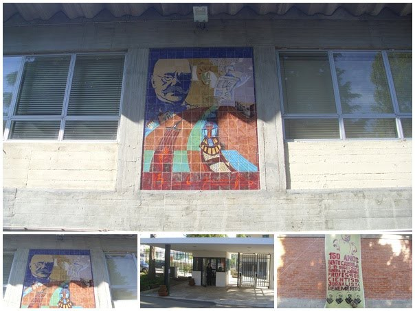 EB 2,3 Bento Carqueja, destacando-se a imagem do seu patrono      Foto: http://bemsotto.blogspot.com/