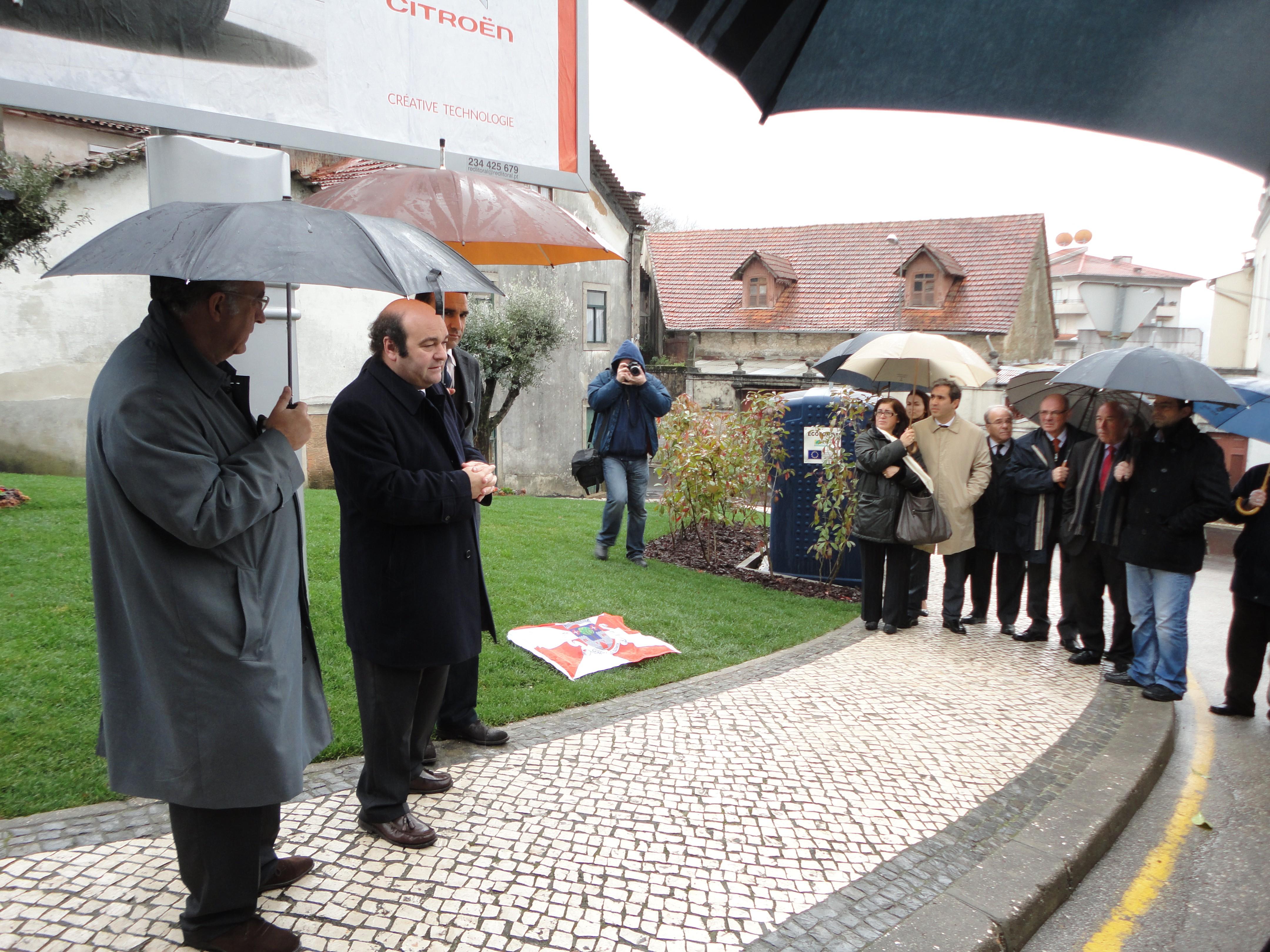 Inauguração do Jardim 5 de Janeiro, na rua Dr. Salvador Machado