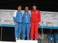 Os três primeiros classificados no Campeonato Nacional de Estrada em Atletismo: Hermano Ferreira (1º), Manuel Damião (2º) e Marco Morgado (3º)