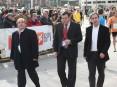 Hermínio Loureiro, presidente da Câmara Municipal de Oliveira de Azeméis, Rodrigo Silva, presidente da Junta de Freguesia de Cesar (ao centro) e o vereador do desporto, Pedro Marques