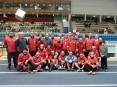 Equipa do Núcleo de Atletismo de Cucujães, campeão nacional de veteranos em pista coberta 2012