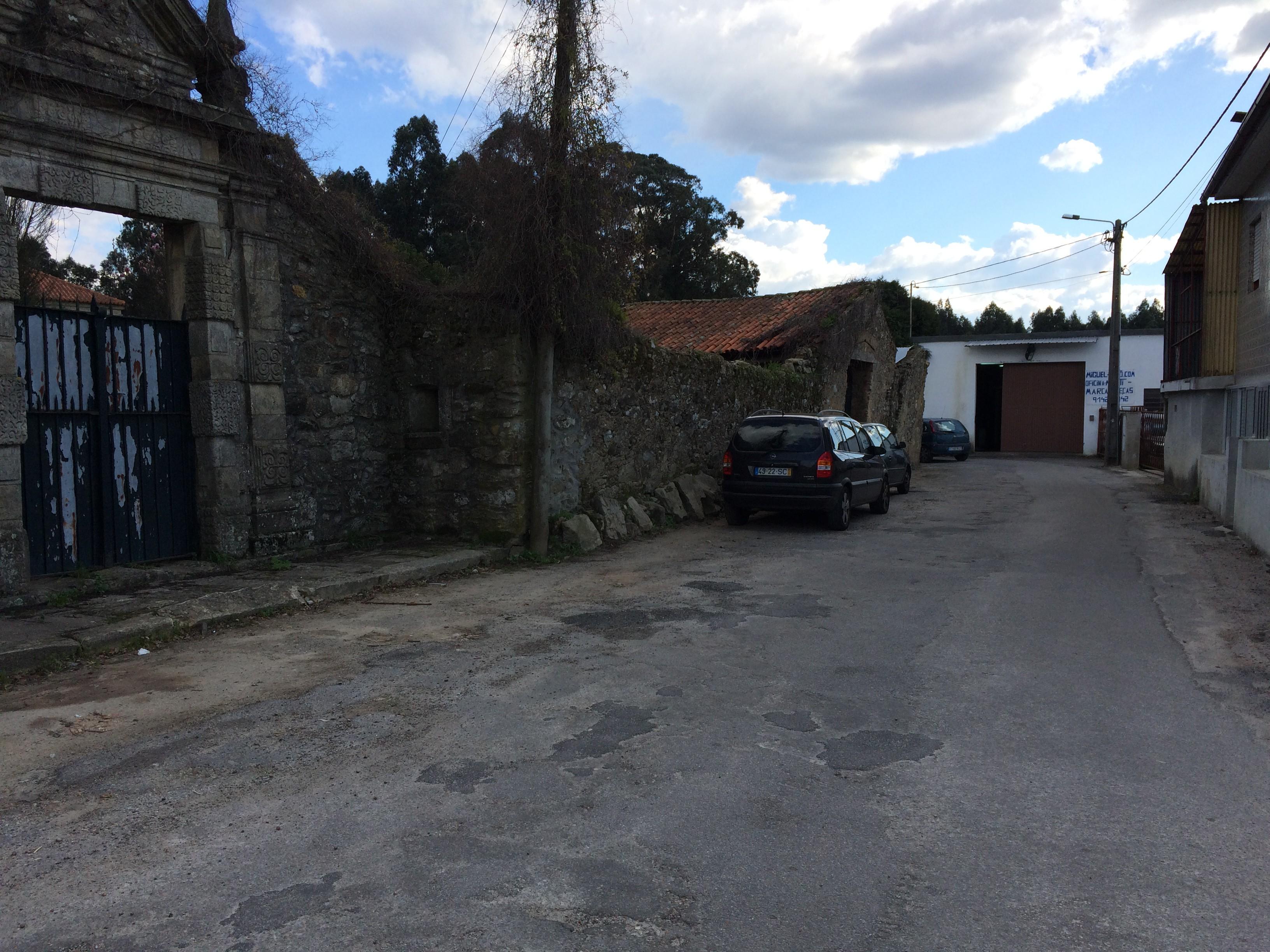 Rua Capela de Adães, na freguesia de Ul