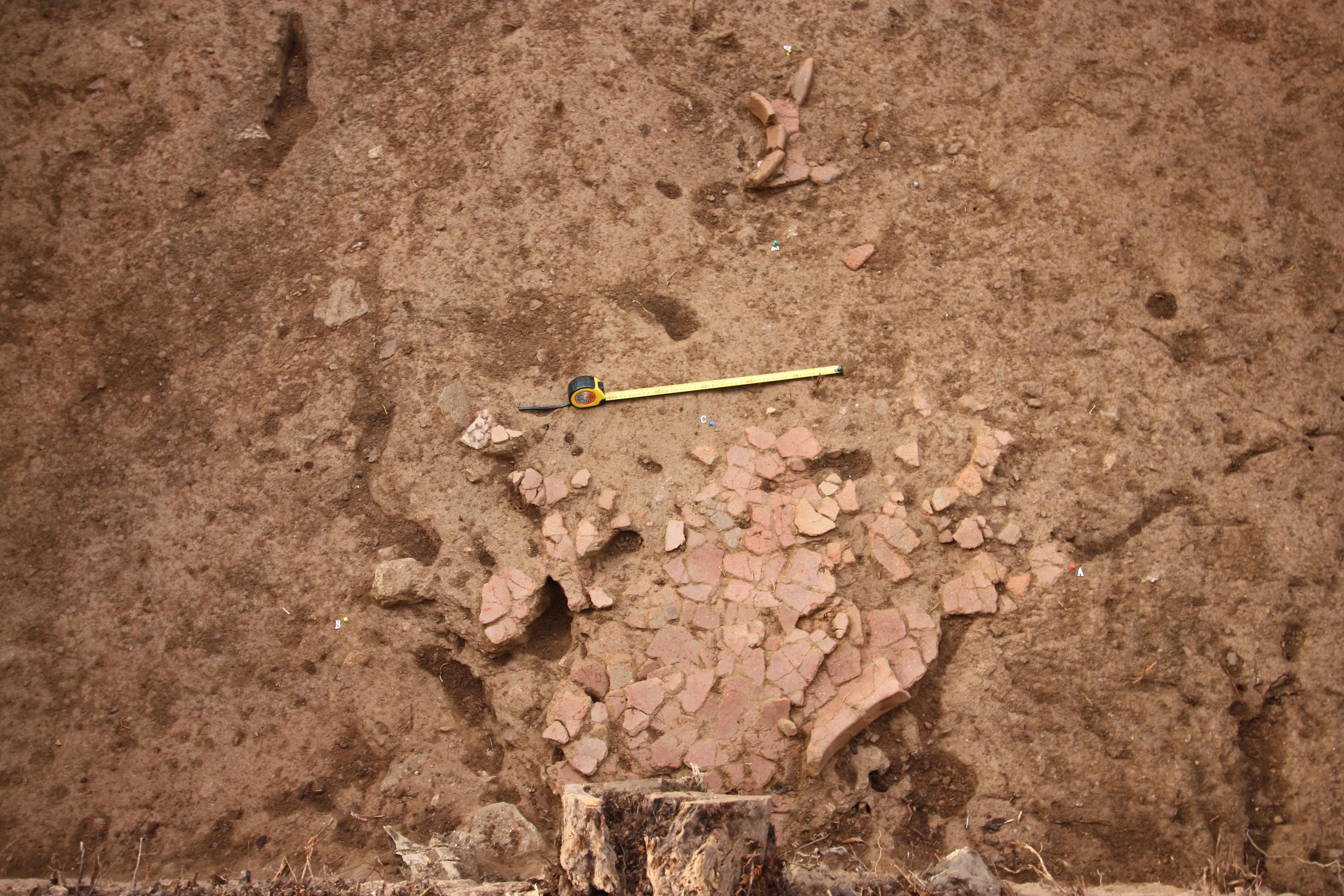 Fragmentos do recipiente de armazenamento e conexão identificados
