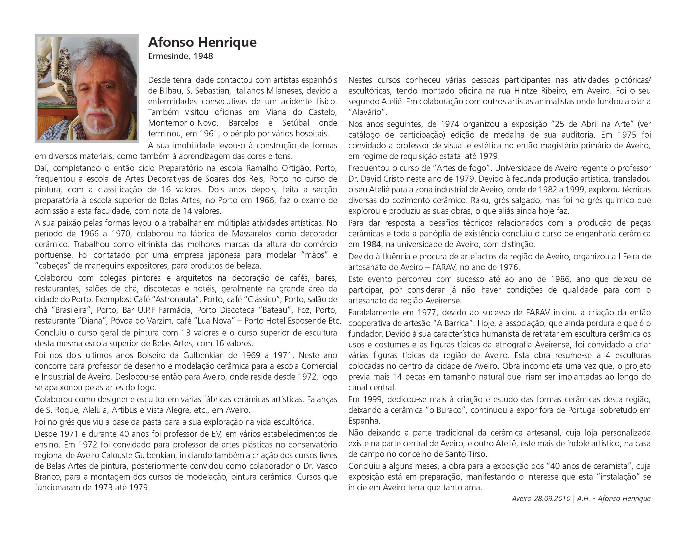 Nota Biográfica Afonso Henrique